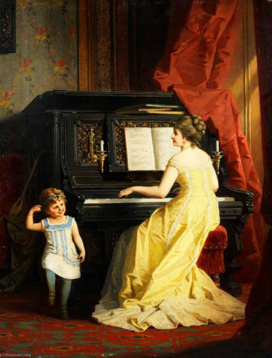 The Little Polka Dancer, 1879 by Anton Ebert | Museum Quality Reproductions | WahooArt.com