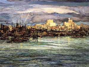 Charles Reiffel - Harbor Night