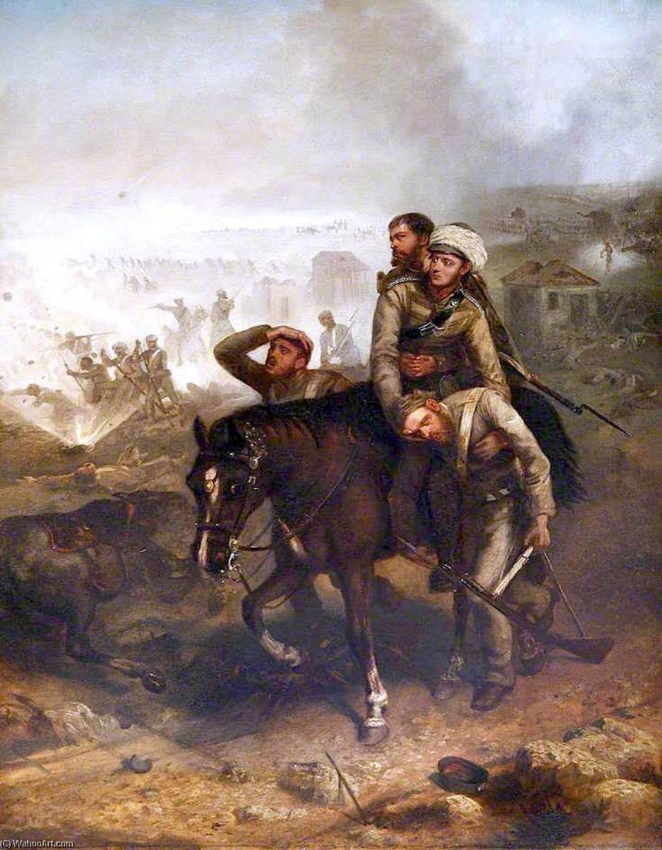 Lieutenant William George Cubitt, 1860 by Louis William Desanges (1822-1887, United Kingdom) | Paintings Reproductions Louis William Desanges | WahooArt.com