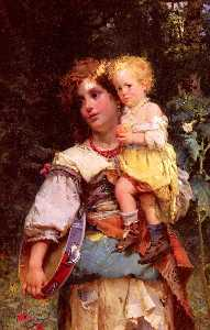Cesare Augusto Detti - Gypsy Woman and Child