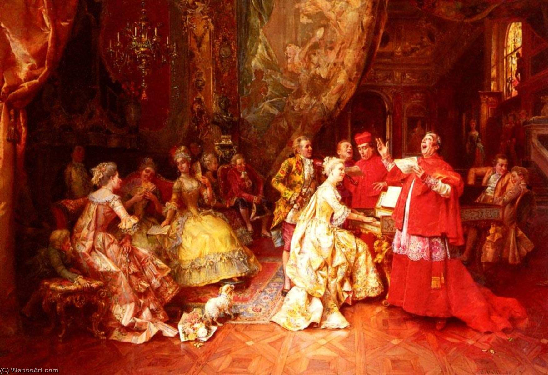 The Gala Recital by Cesare Augusto Detti | Oil Painting | WahooArt.com