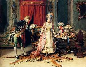 Cesare Augusto Detti - Flowers For Her Ladyship