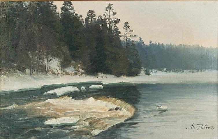 Buy Museum Art Reproductions | Ice Breaking by Alfred Thörne | WahooArt.com
