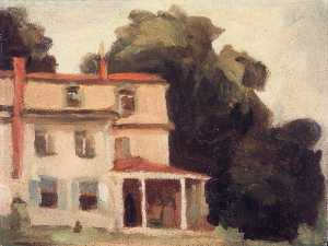 Thomas P Anshutz - House and Tree (The Artist's House)
