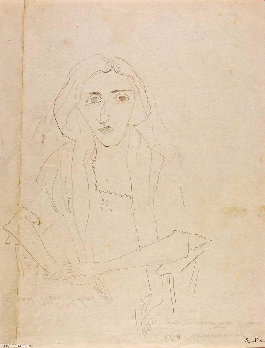 (Portrait of Unidentified Woman), 1923 by Marguerite Zorach (1887-1968) |  | WahooArt.com