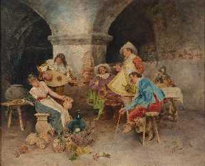 Francesco Vinea - Serenade in the Tavern