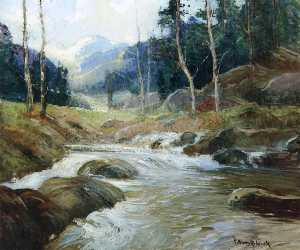 Georges Ames Aldrich - Mountain River 1