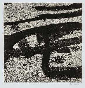 Aaron Siskind - Vermont 118, 1987, from the porfolio Tar Abstracts