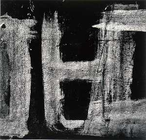 Aaron Siskind - Rome 145, from the series Homage to Franz Kline
