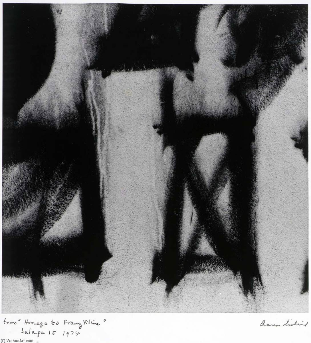 Jalapa 15 1974, from the series Homage to Franz Kline, 1974 by Aaron Siskind (1903-1991, United States) | Oil Painting | WahooArt.com