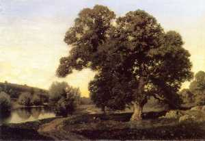 Henry Pember Smith - The Great Oak in the Meadows