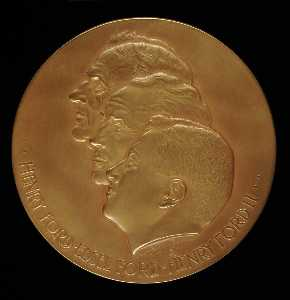 Anthony De Francisci - Ford Motor Company Anniversary Medal (obverse)