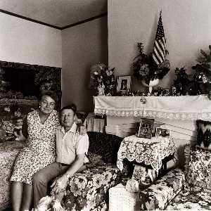 Elinor Cahn - Vera and Michael Shashko in the Living Room of their Bank Street Home, from the East Baltimore Documentary Survey Project