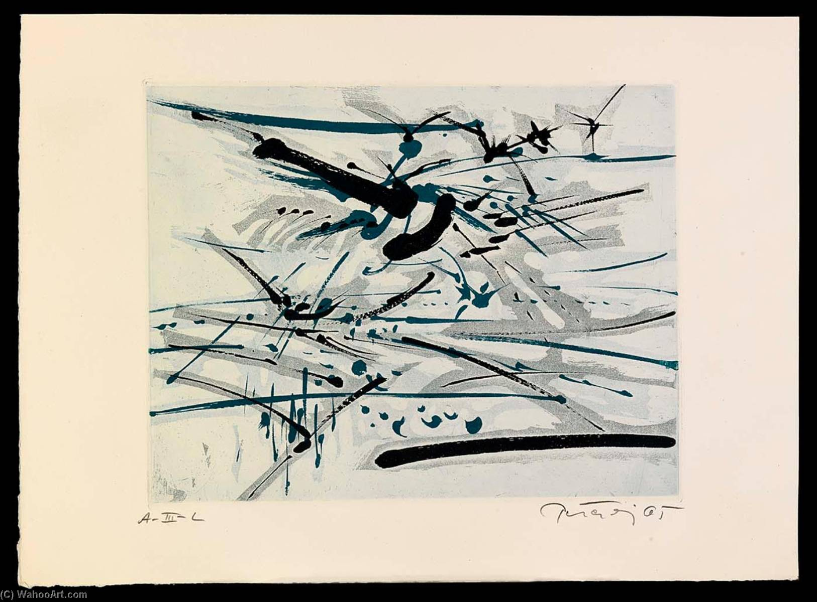 Birds, from the portfolio A Genesis, 1967 by Gabor Peterdi | Oil Painting | WahooArt.com