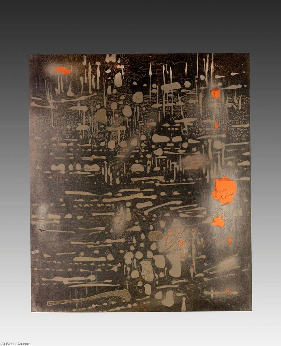 Sunshine with Showers (copper plate), from the portfolio A Genesis, 1967 by Gabor Peterdi | Art Reproduction | WahooArt.com