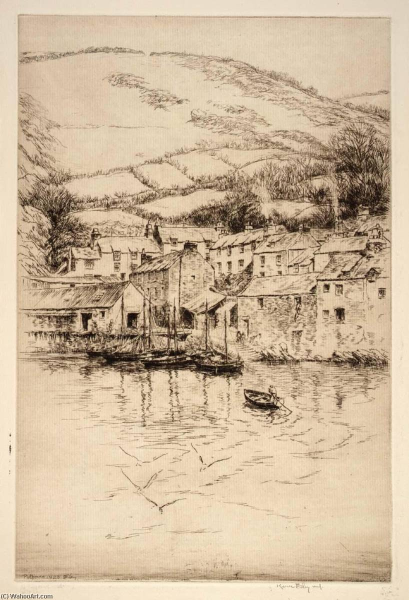 Polperro no. 2, 1926 by Kerr Eby | Museum Quality Reproductions | WahooArt.com