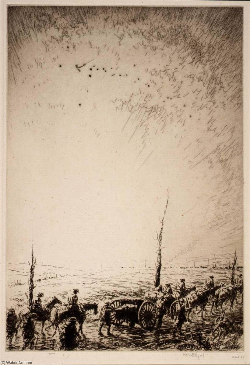 Scout Planes at Dawn, Etching by Kerr Eby