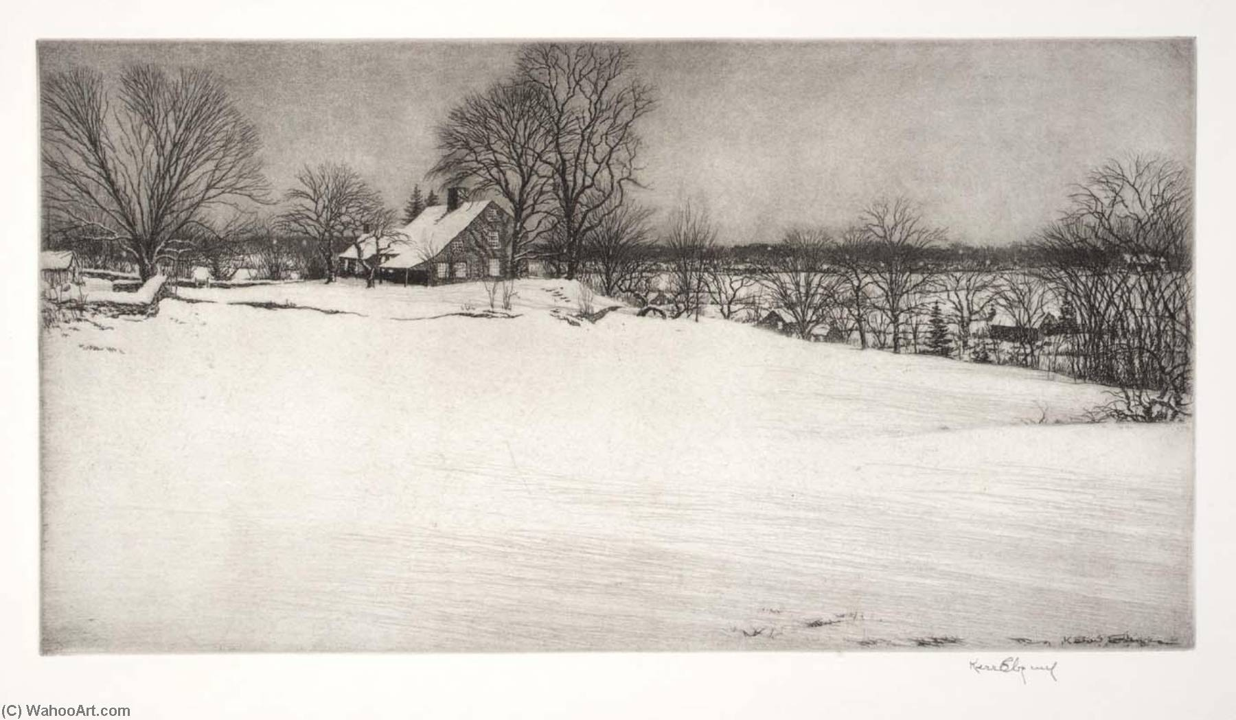 Driftway, Evening, 1932 by Kerr Eby | WahooArt.com