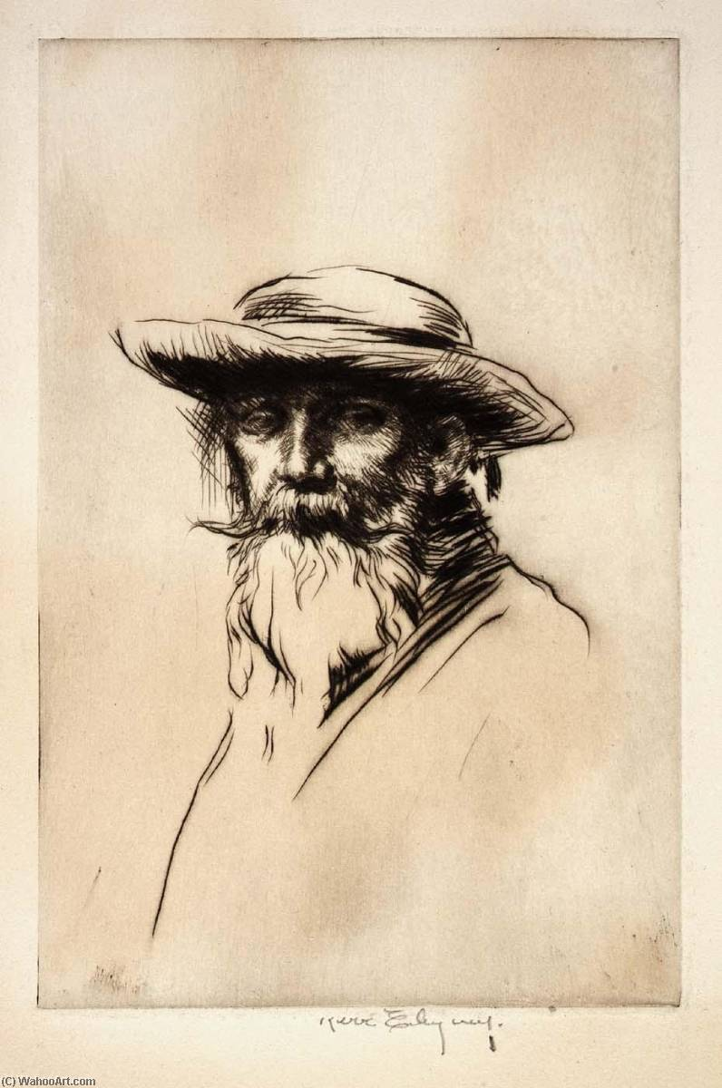 Head of an Old Man, 1918 by Kerr Eby | Museum Art Reproductions Kerr Eby | WahooArt.com