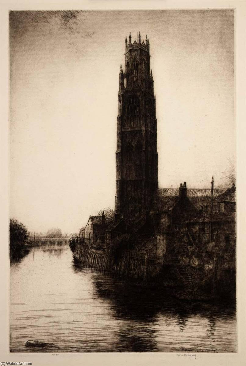 Boston Stump, 1925 by Kerr Eby | Paintings Reproductions Kerr Eby | WahooArt.com