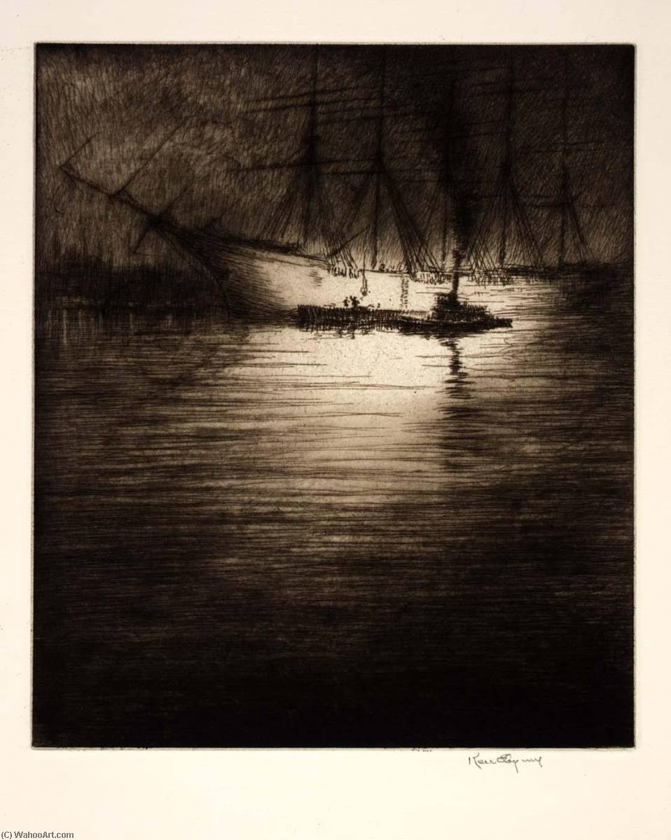Night Loading, 1930 by Kerr Eby | Painting Copy | WahooArt.com