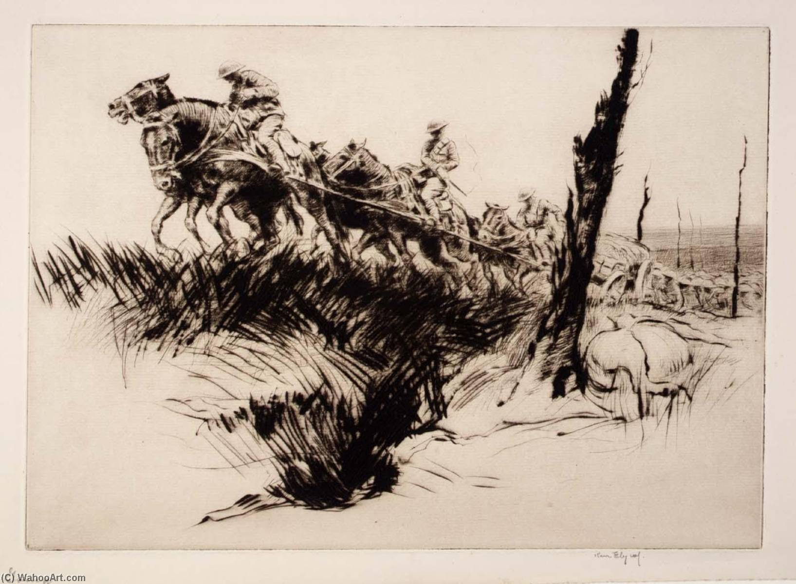 Rough Going, 1919 by Kerr Eby | Museum Art Reproductions Kerr Eby | WahooArt.com