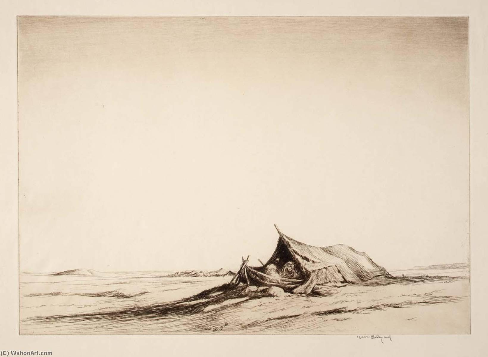 The Nomads, Etching by Kerr Eby