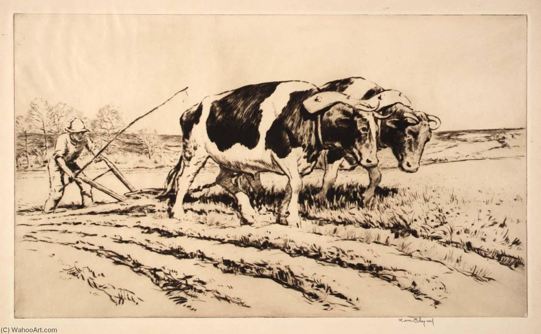 Spring Plowing, Paper by Kerr Eby