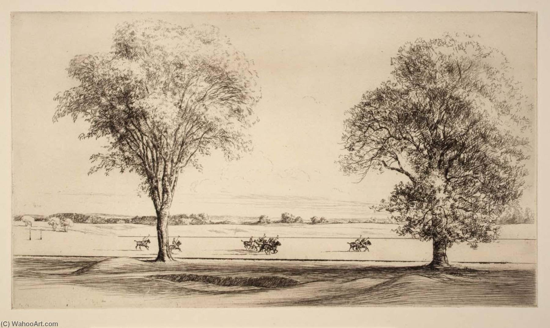 Polo, Etching by Kerr Eby