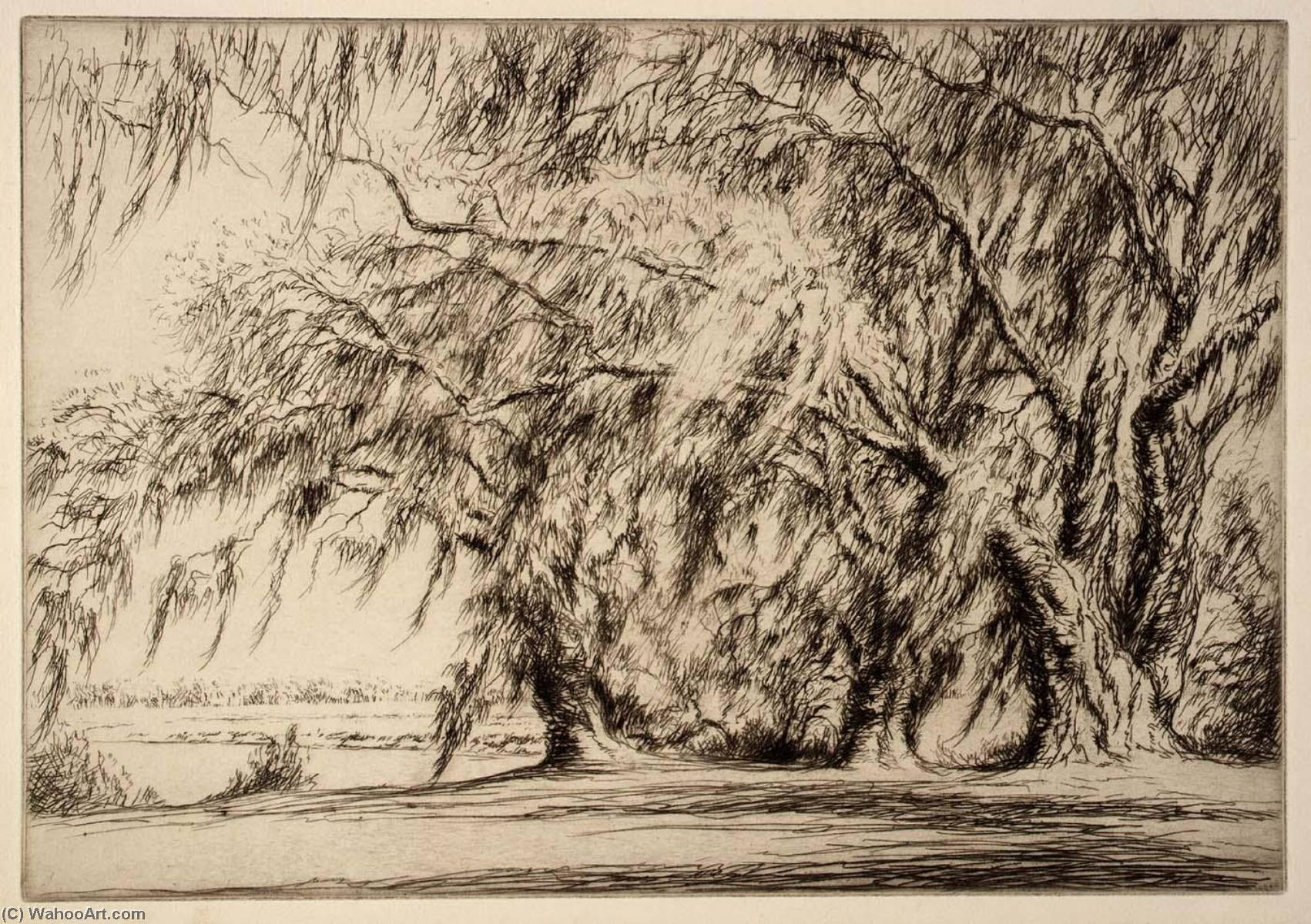 Order Museum Quality Reproductions : Oaks and Moss, 1940 by Kerr Eby | WahooArt.com