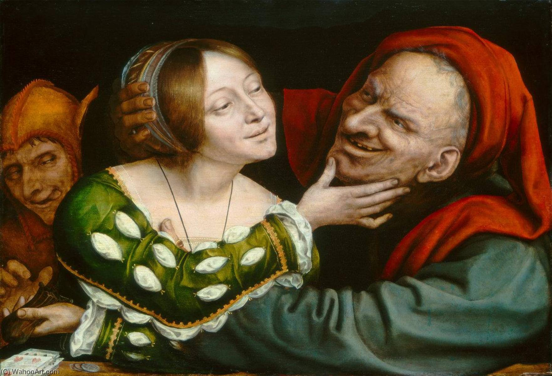 Ill Matched Lovers, Oil On Panel by Quentin Massys (1466-1530, Belgium)