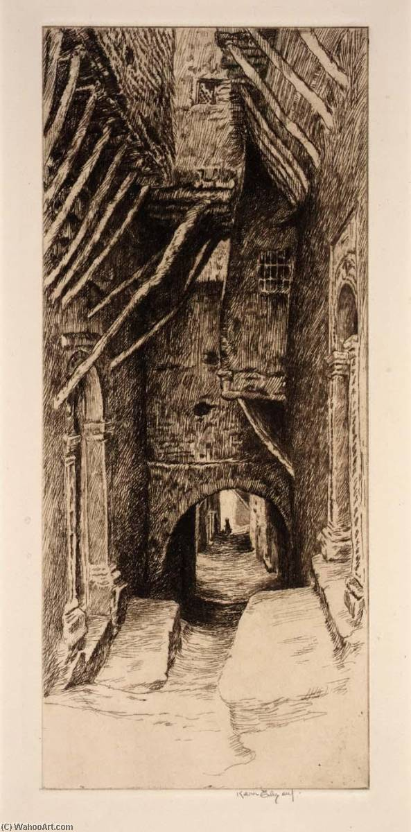 Steps and Doorways (St. of the Red Sea), Etching by Kerr Eby