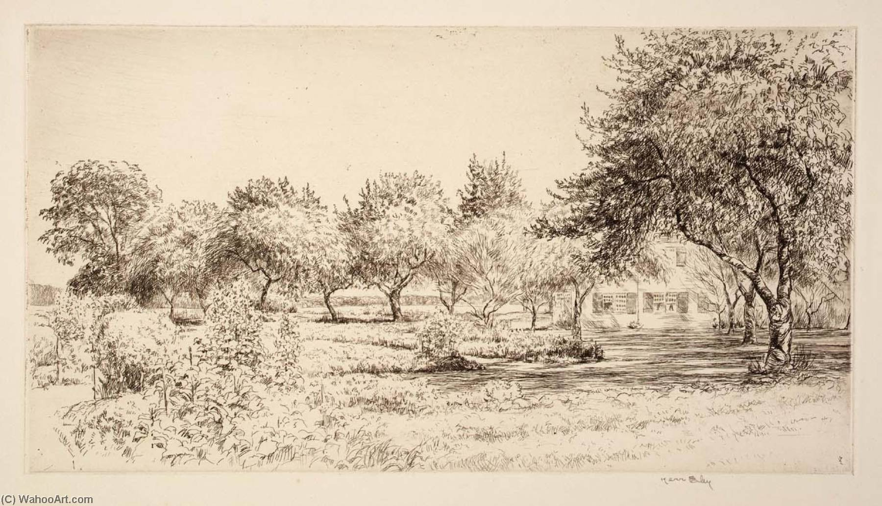 The Orchard, 1940 by Kerr Eby | WahooArt.com