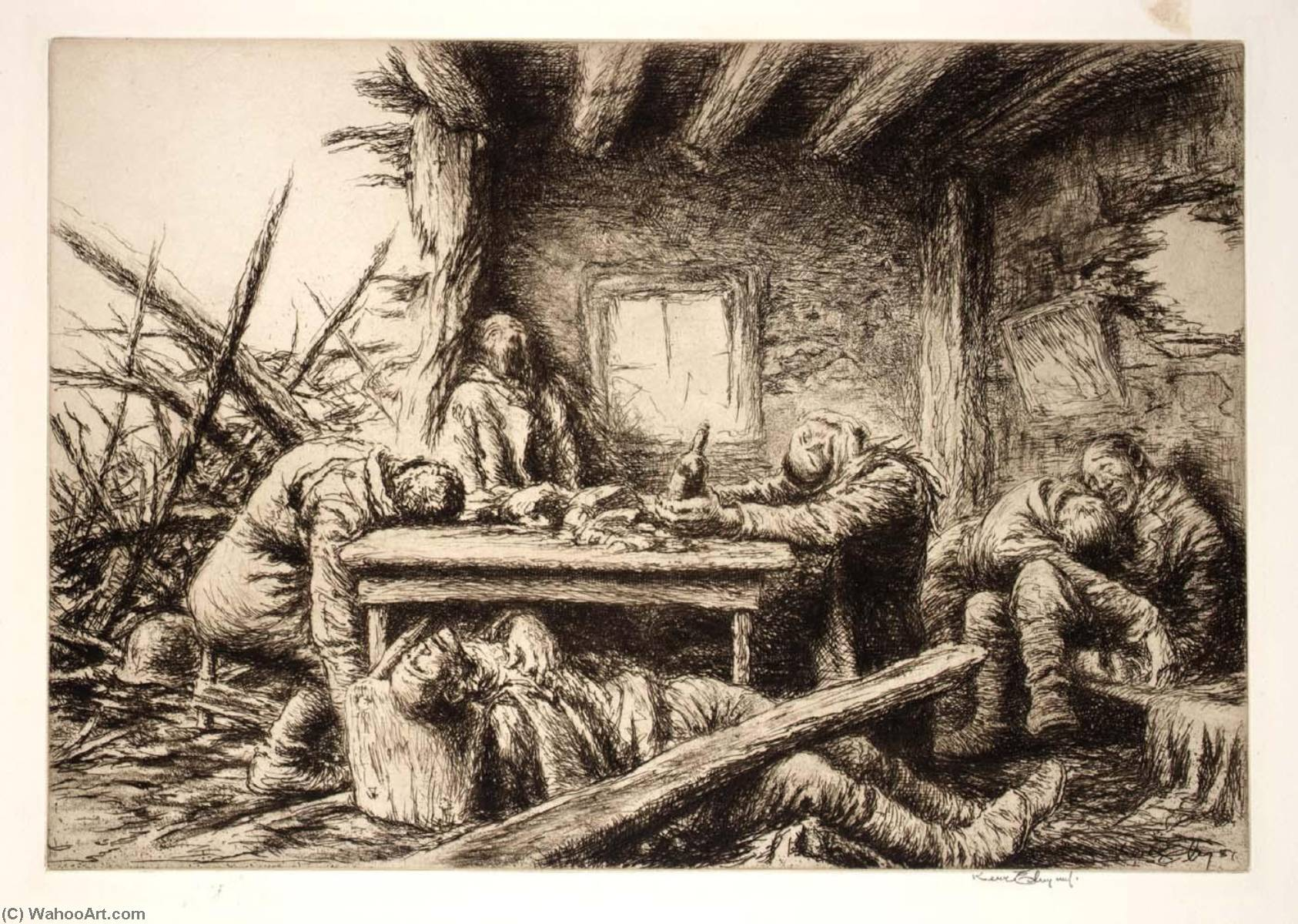 The Last Supper, Etching by Kerr Eby