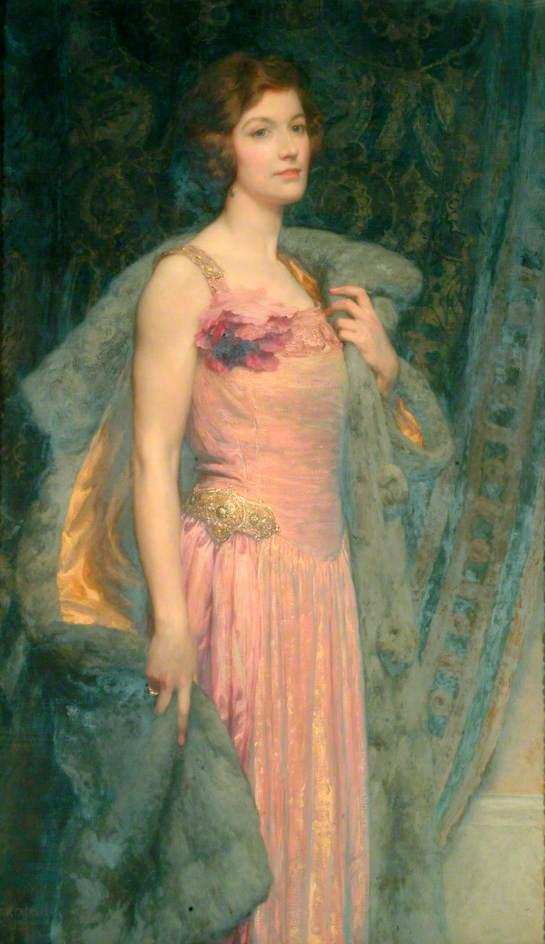 Miss Edith Fitton, Oil On Canvas by Francis Bernard (Frank) Dicksee