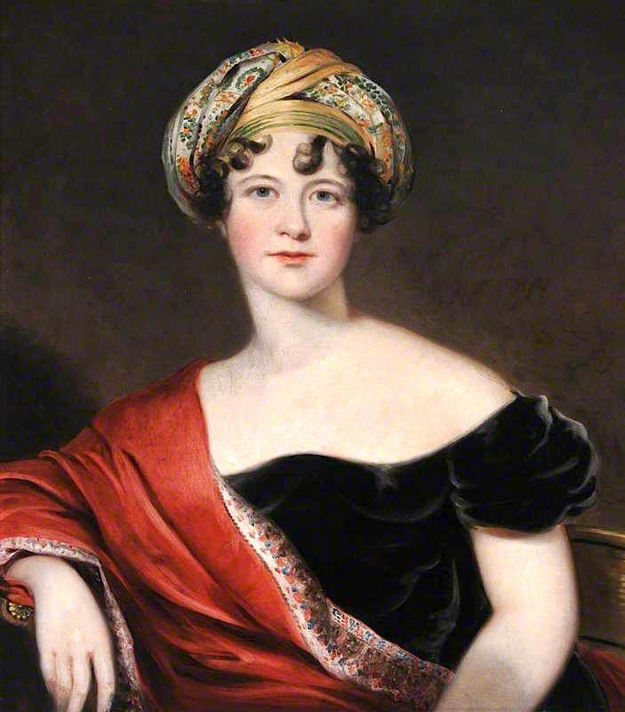 Lady Harriet Cavendish, Countess Granville, 1810 by Thomas Barber | Painting Copy | WahooArt.com