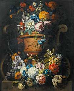 Gaspar Peeter The Younger Verbruggen - Still Life with Flowers in a Vase
