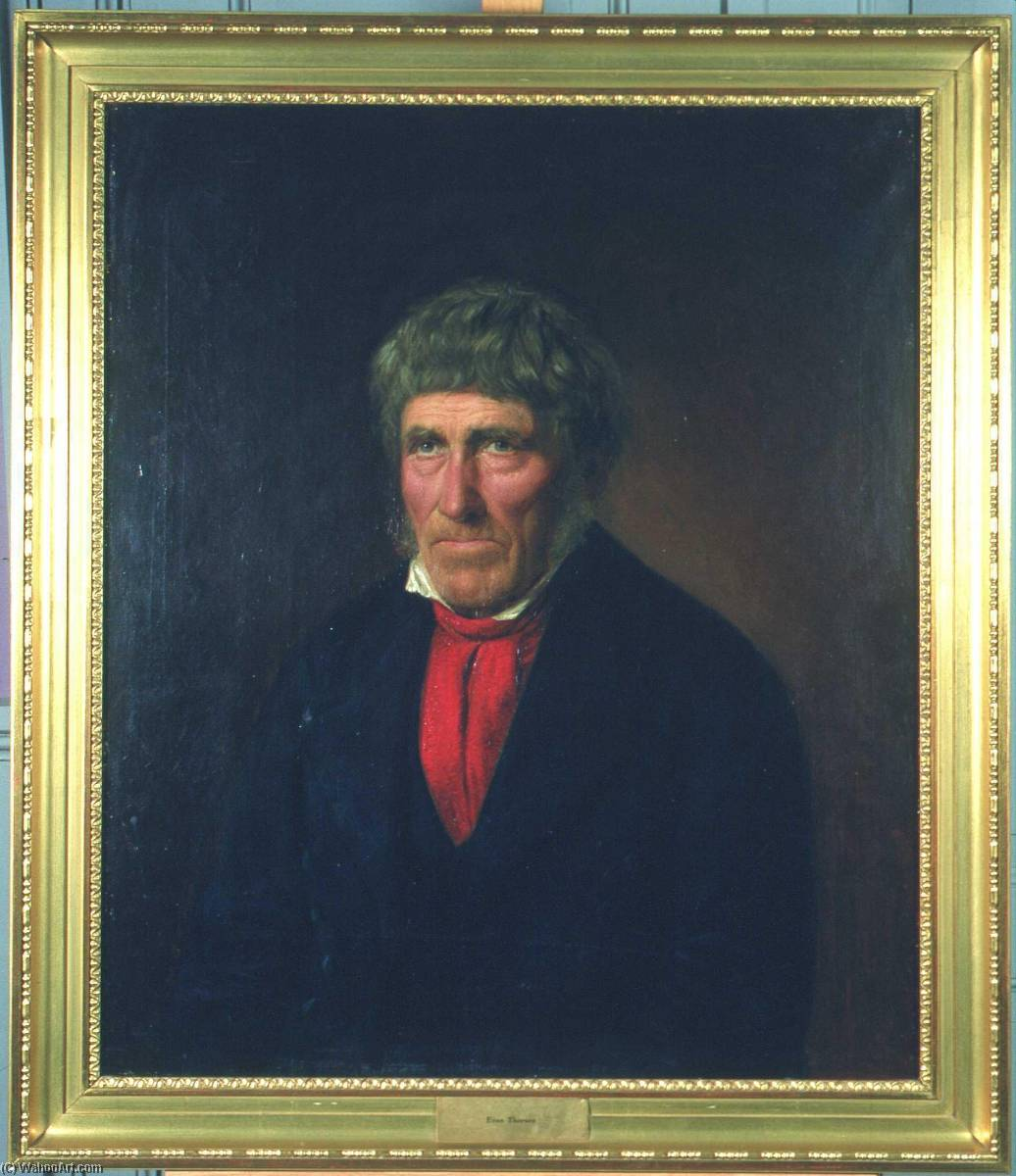 Even Thorsen, Painting by Christian Olsen