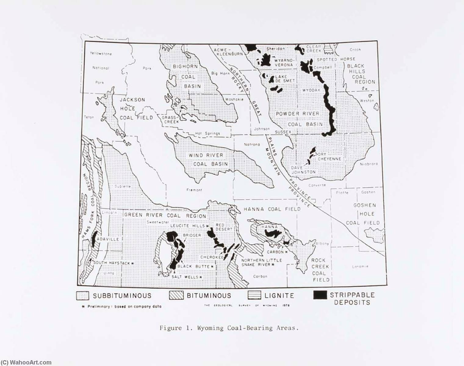 Courtesy Wyoming Geological Society, from the Wyoming Documentary Survey Project, 1979 by Penny Diane Wolin | WahooArt.com