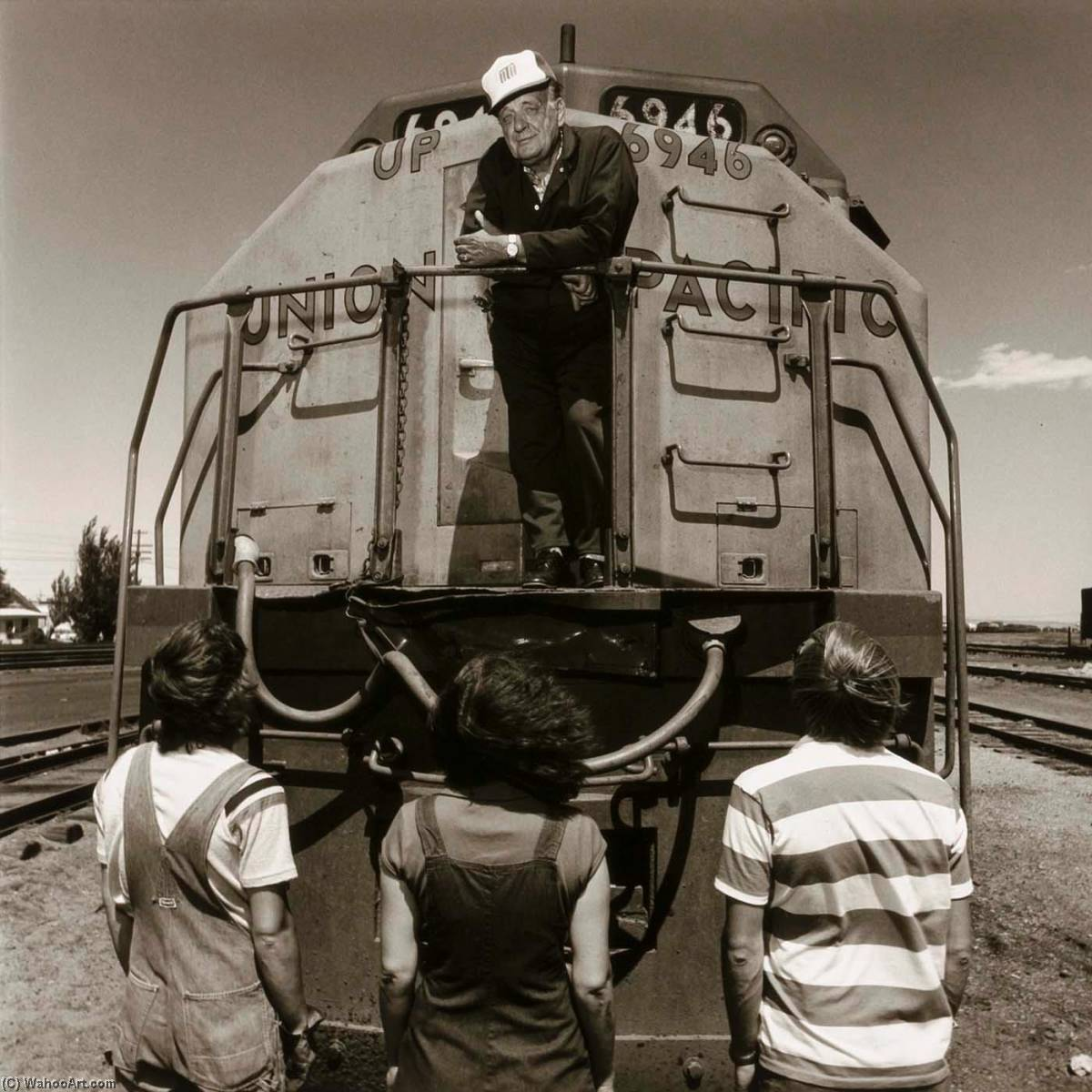 Green River Railroader, form the Wyoming Documentary Survey Project, 1979 by Penny Diane Wolin | WahooArt.com