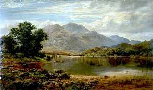 James Docharty - In the Trossachs, Loch Achray from the Island