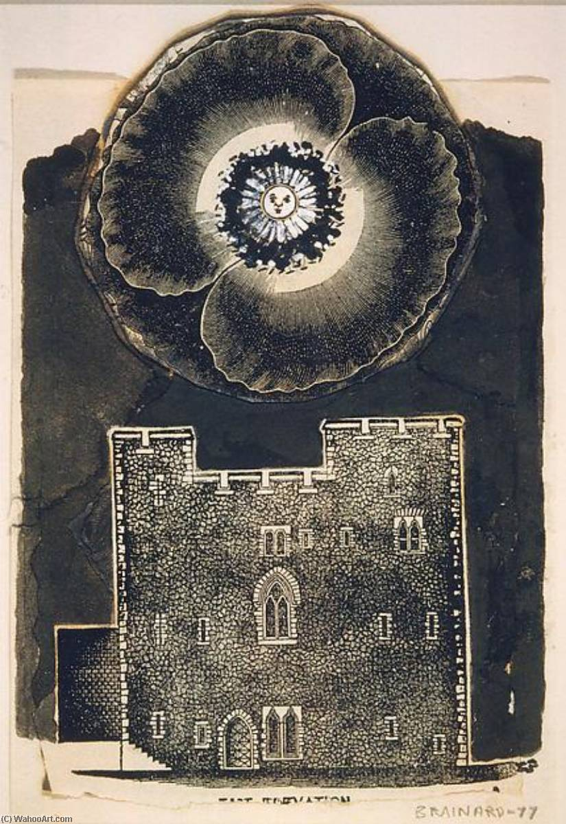 Flower Castle, 1977 by Joe Brainard (1942-1994, United States) |  | WahooArt.com
