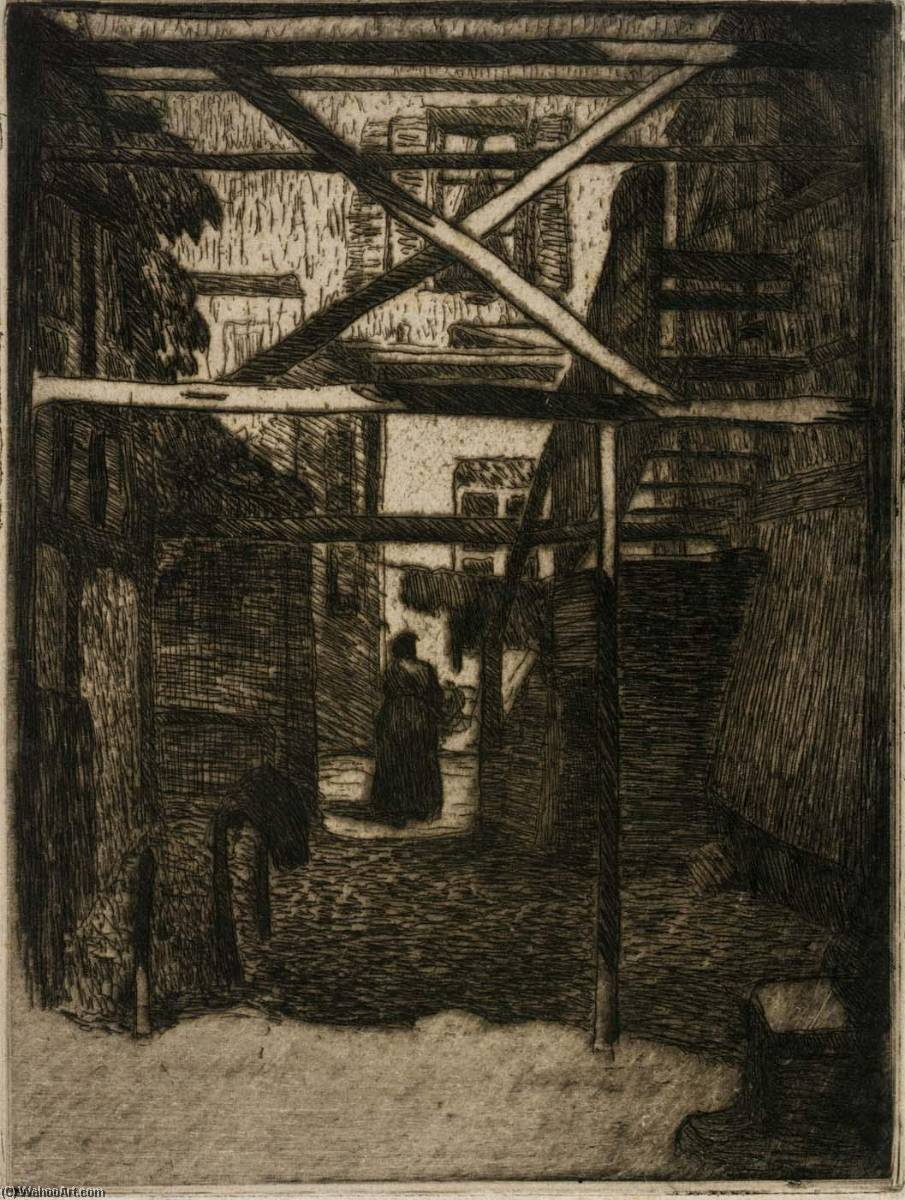 View through Houses, 1912 by Jerome Blum (1884-1956) |  | WahooArt.com