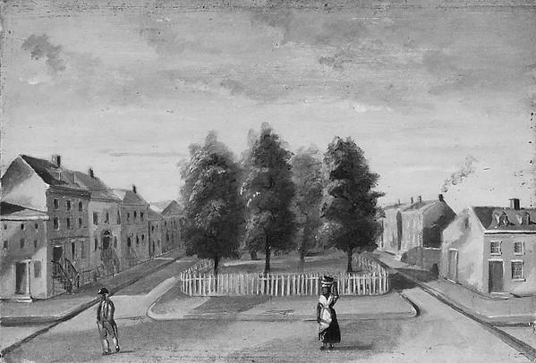 Baked Pears in Duane Park, Paper by William P Chappel (1800-1880)