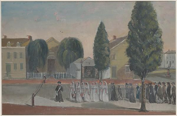 Infant Funeral Procession, 1870 by William P Chappel (1800-1880) | Art Reproduction | WahooArt.com
