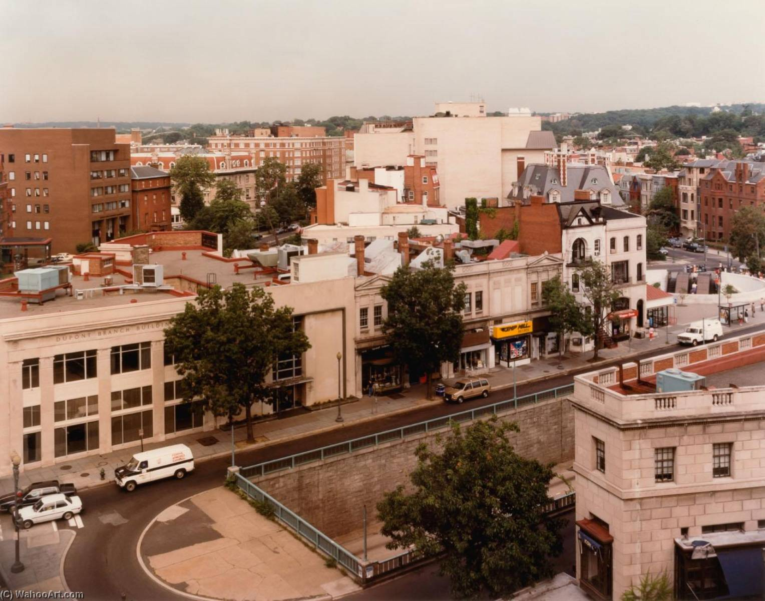 Buy Museum Art Reproductions | Overview of Dupont Circle, from the series Connecticut Avenue, 1987 by Brian V Jones | WahooArt.com