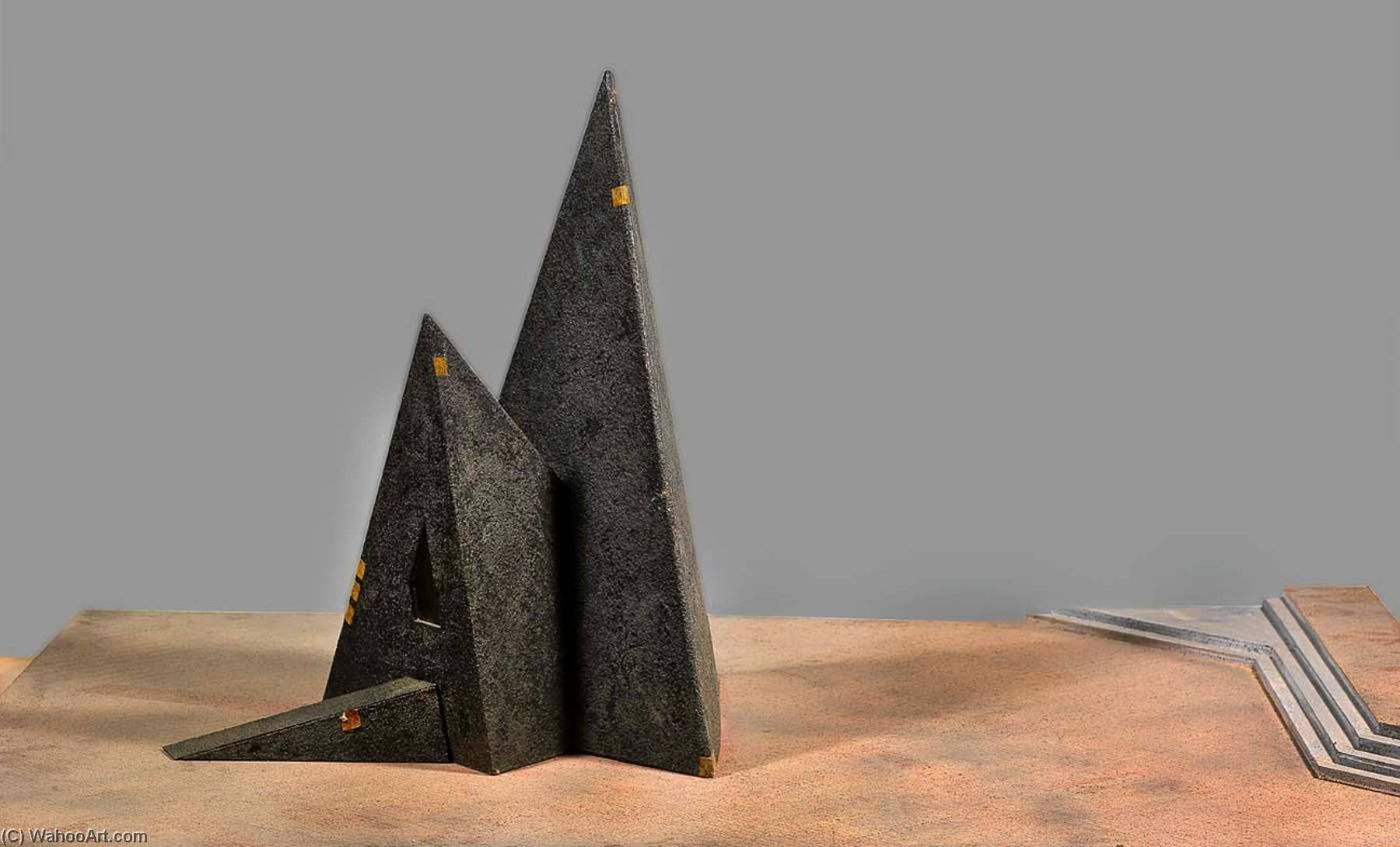 Installation Model for Mississippi Inscape, Paper by Ed Mcgowin
