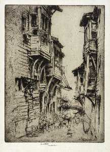 Ernest D Roth - Street in Galata, Constantinople