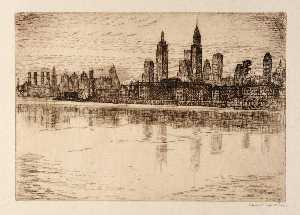 Edward S Hewitt - (New York Skyline)