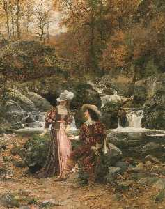Marie Francois Firmin-Girard - The Lovers